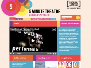 five minute theatre webpage